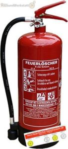 6L-Schaumfeuerlöscher 9 Löscheinheiten Brandklasse AB - platz 2