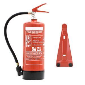 Feuerlöscher 6 Liter Schaum Brandklasse A und B mit Halterung Manometer Prüfnachweis & gratis ANDRIS® Feuerlöscher - platz 1