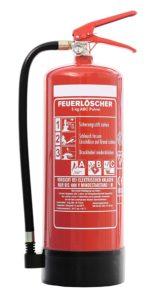 Feuerlöscher 6kg ABC Pulverlöscher mit Manometer EN 3 + ANDRIS® Prüfnachweis mit Jahresmarke -platz 2